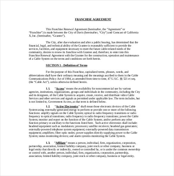 15+ Franchise Agreement Templates – Free Sample, Example, Format
