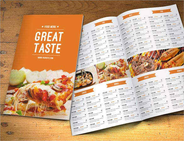 catering menu template sample download