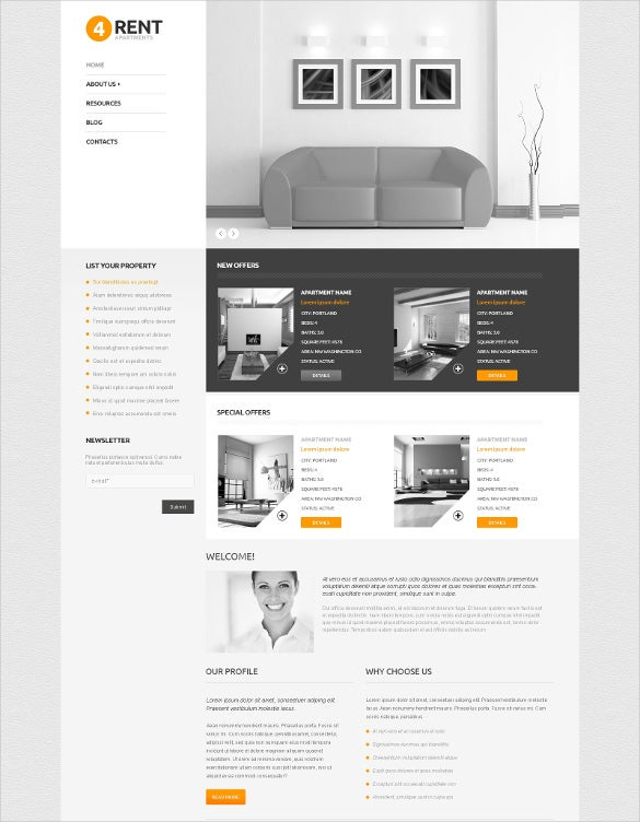 fully responsive real estate agency wordpress theme