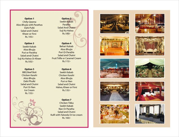Sample Catering Menu Templates  Catering Menu Template Free