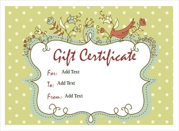 Gift Certificate Template 42 Examples in PDF Word In Design – Gift Voucher Templates for Word