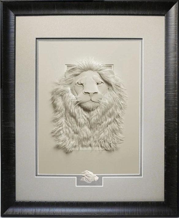 lion paper art design