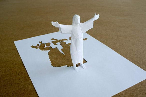 jesus paper art design