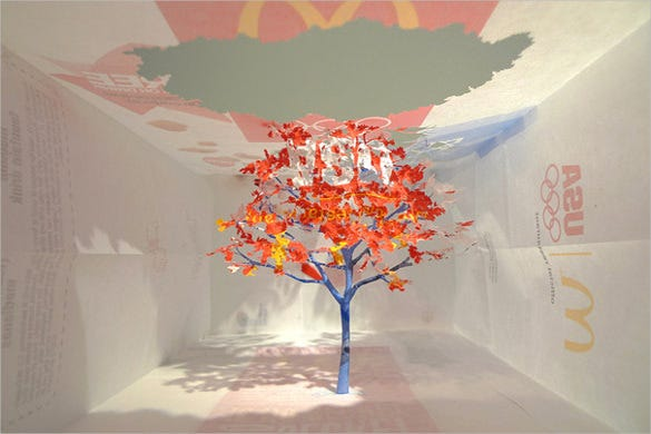 nature paper art design