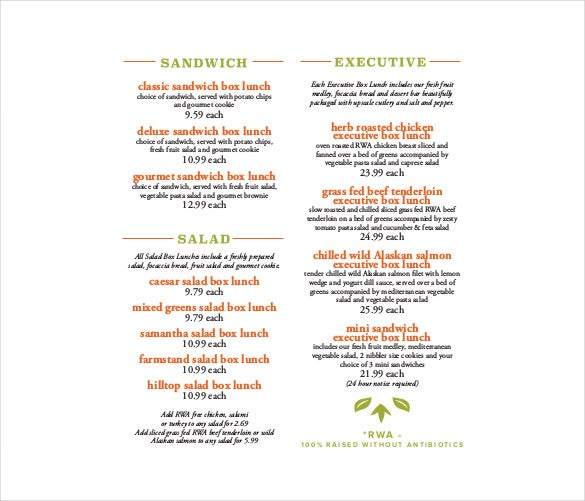 Charming Free Sopraffina Catering Menu PDF Format Download  Catering Menu Template Free