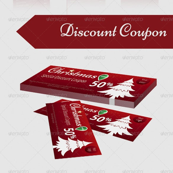 special christmas discount coupon template
