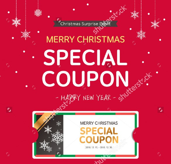 merry christmas coupon template download