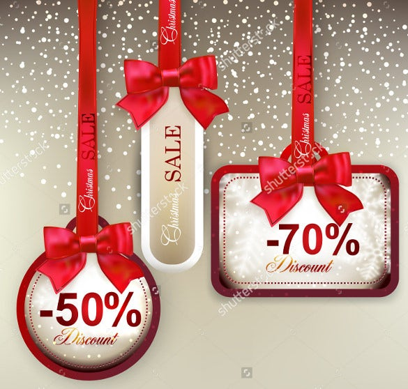 attractive christmas coupons with ribbon