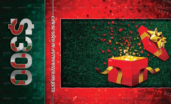 colorful christmas coupon template download