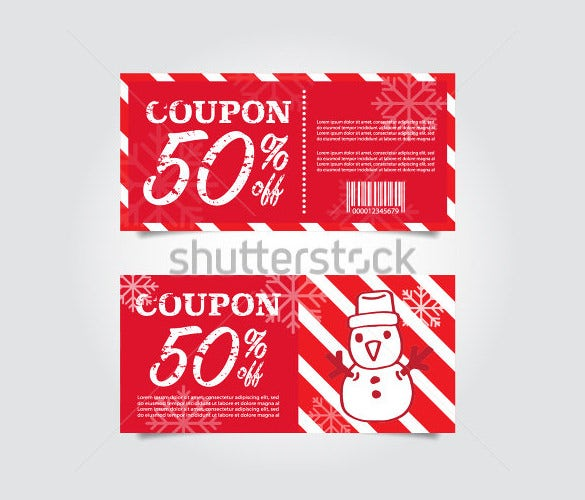 christmas coupon template easy download