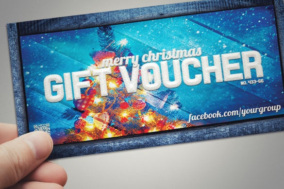 colorful background christas goft voucher download