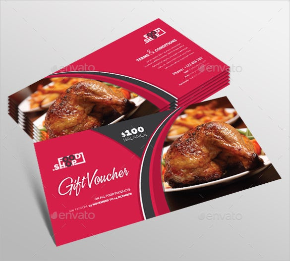 gift coupon template for restaurants