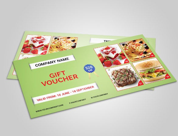 bakery gift coupon template download