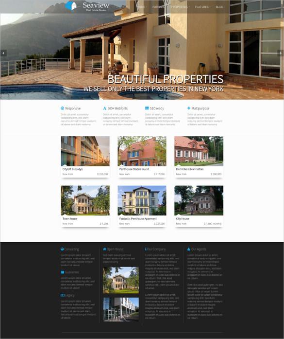 luxury beautiful real estate wordpress theme