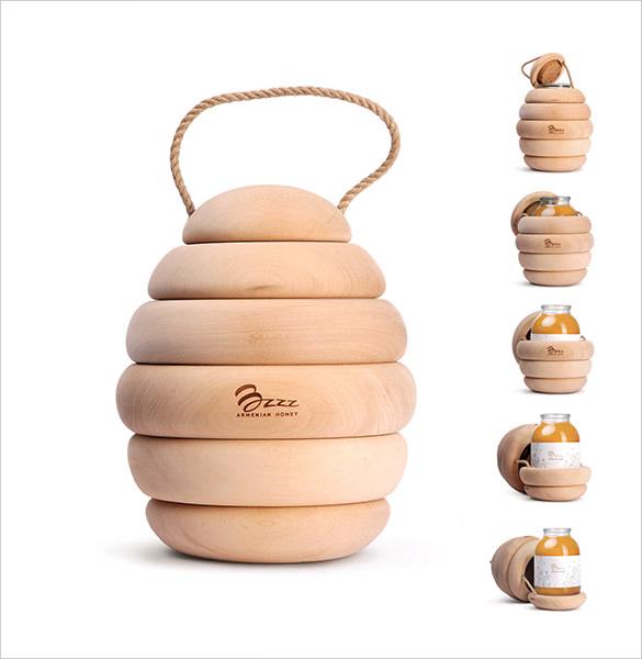 bzzz premium honey creative packaging