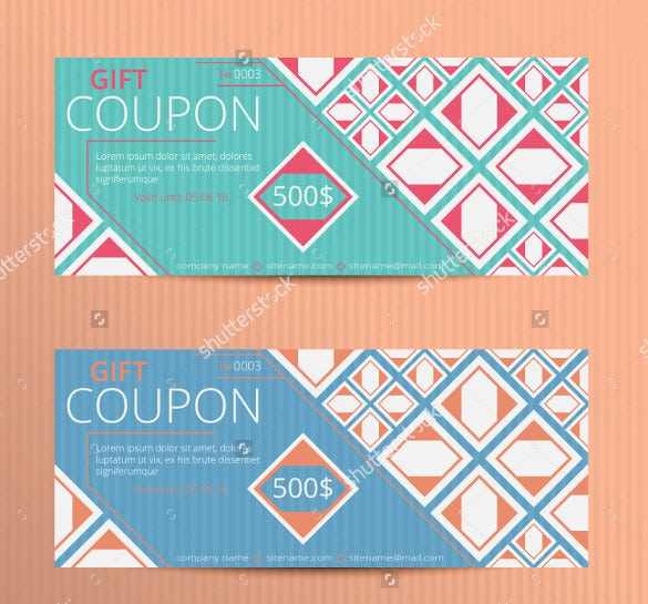 professional gift coupon template download