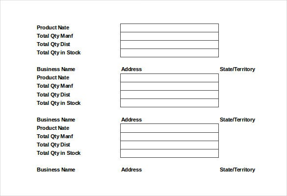 food order distribution list template download