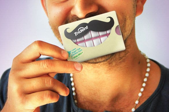 trident chewing gum creative packaging