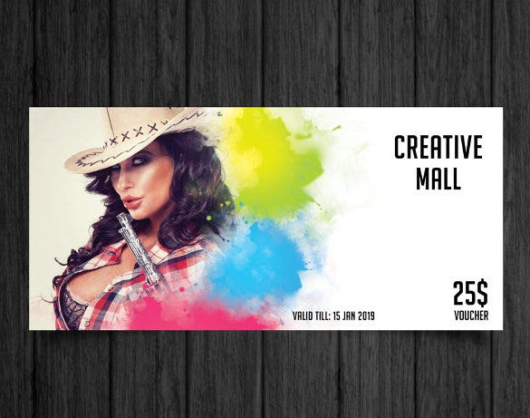crearive mall gift coupon template download