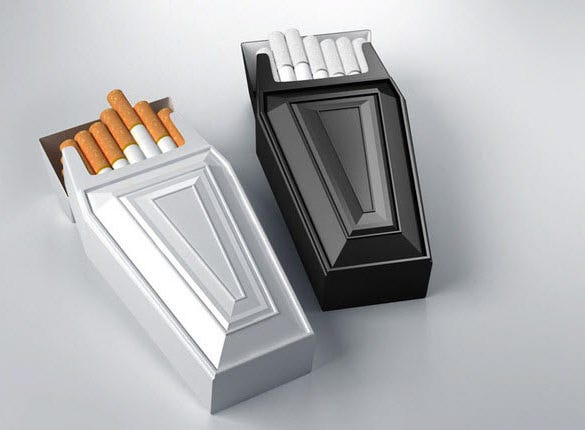 cigarette box creative packaging