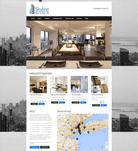 rental real estate wordpress template