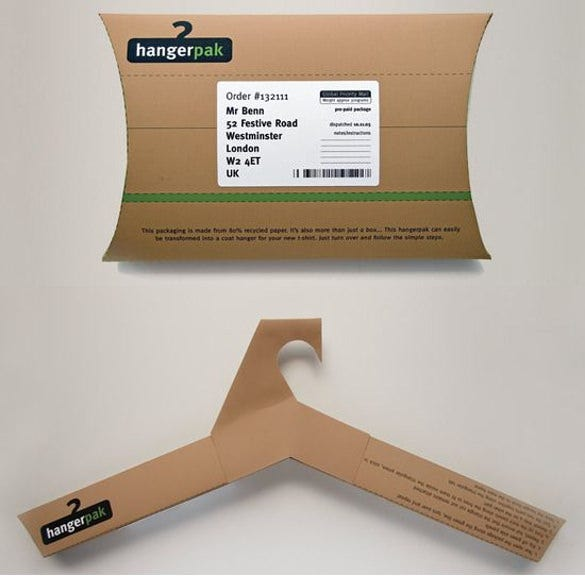 hangerpak creative cool packaging download