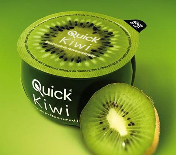 creative and unusual packaging of quick kiwi