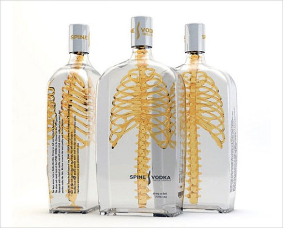 spine vodka creative packaging design