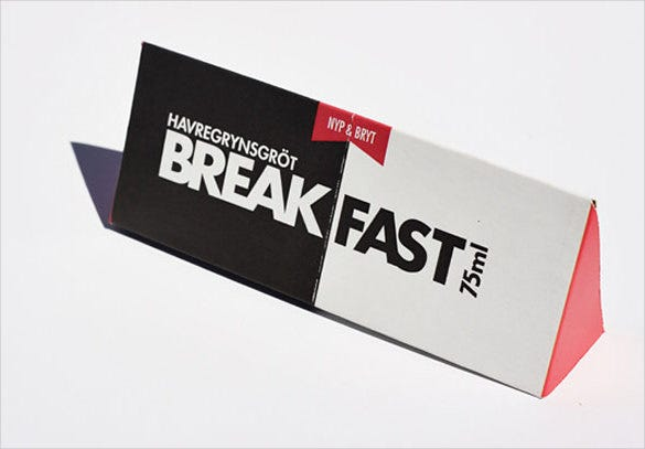 break fast creative packaging of food