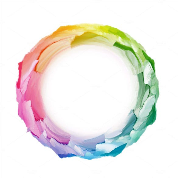 color circle abstract background