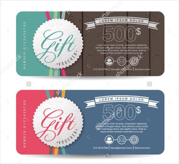 colorful gift coupon template download