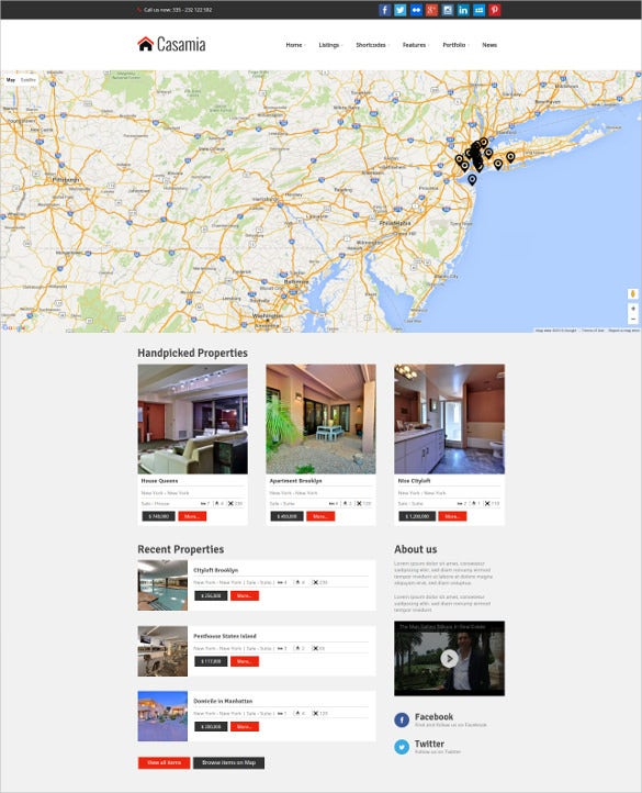 awesome location real estate wordpress theme