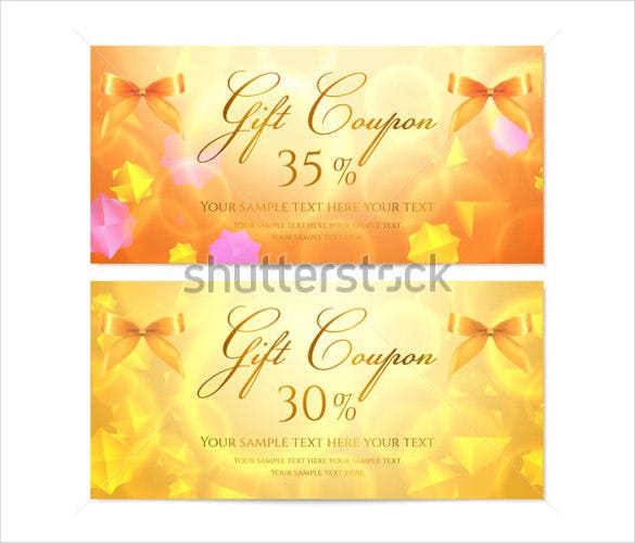 unique model gift coupon template download