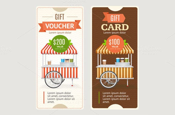 vertical gift coupon template download