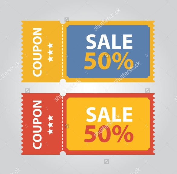 super sale gift coupon template download