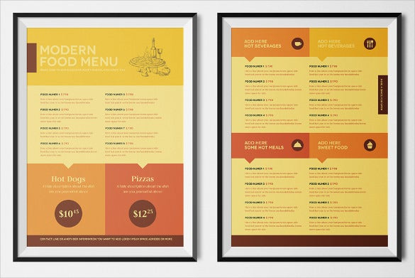fast food menu design format download