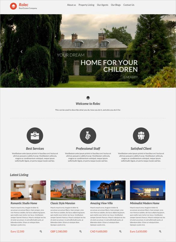 responsive hotel real estate wordpress theme