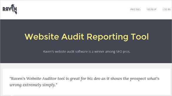 raven website audit reporting tool