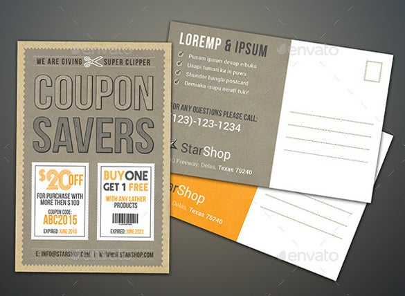 Coupon Flyer Template Easy Download  Coupon Flyer Template