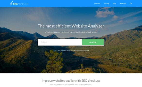 site analyzer tool for free