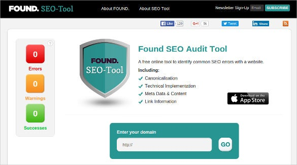 found seo audit tool for free