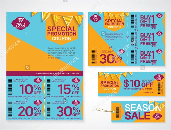 beautiful coupon flyer template download