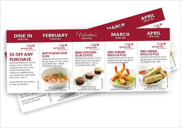 In Order To Make Many Types Of Coupons Easily This Sample Is The Best  Option For You. It Is Meant For The Restaurant Use As It Gives Discounts Of  Various ...  Coupon Flyer Template