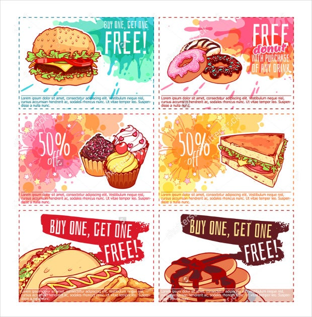 hand painted coupon flyer template download