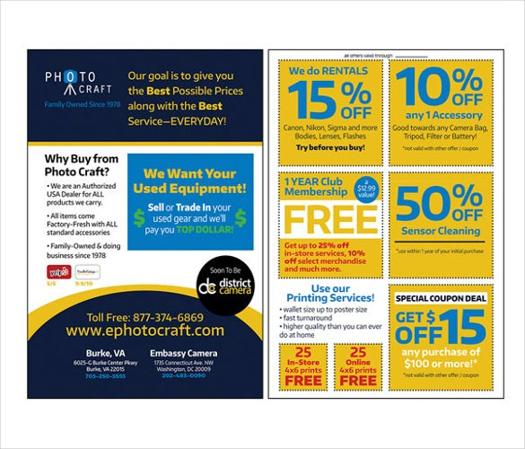 Awesome Print Ready Coupon Flyer Template Download And Coupon Flyer Template