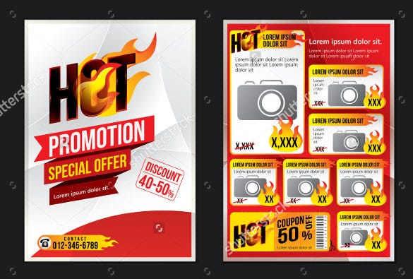 Coupon Flyer Template For Electronics Store  Coupon Flyer Template