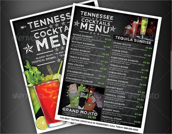 23+ Drink Menu Templates – Free Sample, Example Format Download ...