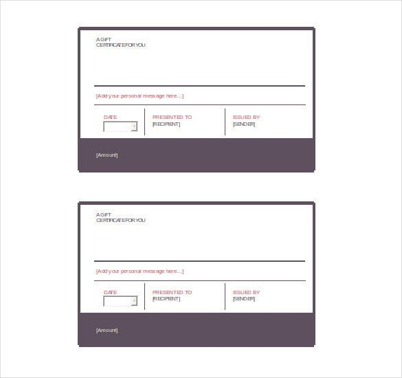 Gift Certificate Template 42 Examples in PDF Word In Design – Certificate Template Ms Word