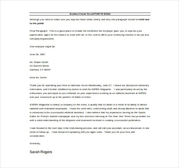 thank you business letter free download example