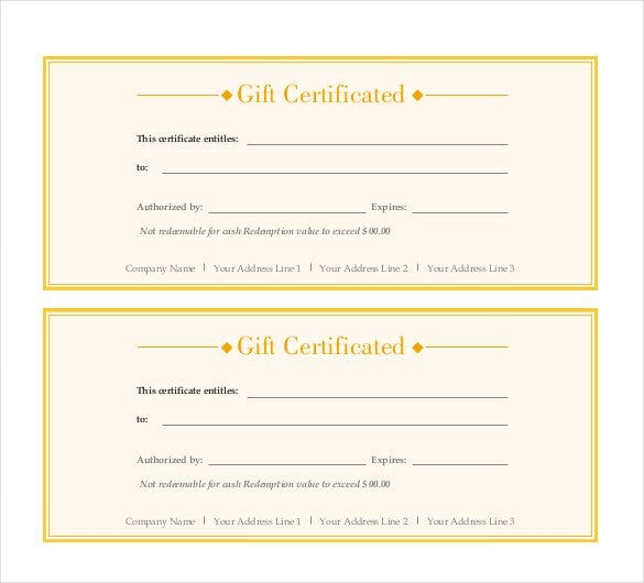 Gift Certificate Template   Examples In Pdf Word In Design